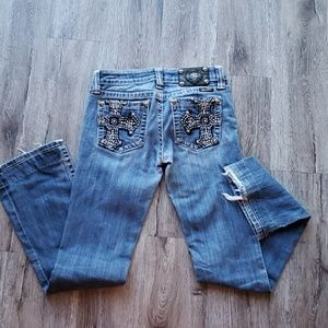 Miss Me Jeans Cross Embellished